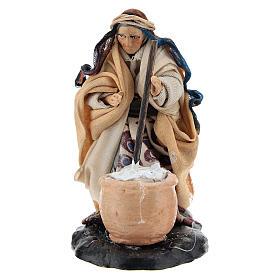 Neapolitan Nativity Scene: Neapolitan nativity figurine, female cheese maker 8cm