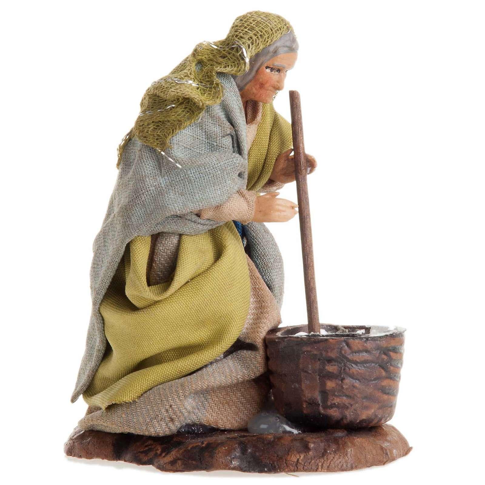 Neapolitan nativity figurine, female cheese maker 8cm 4