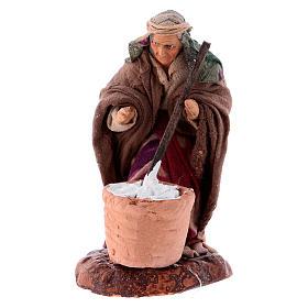 Neapolitan nativity figurine, female cheese maker 8cm s4