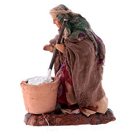 Neapolitan nativity figurine, female cheese maker 8cm s5