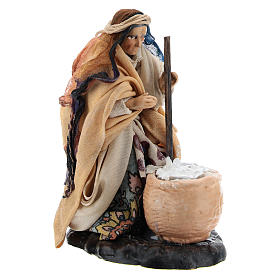 Neapolitan nativity figurine, female cheese maker 8cm s3