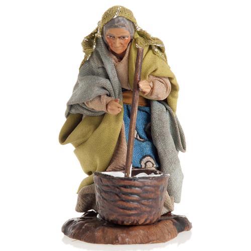 Neapolitan nativity figurine, female cheese maker 8cm 1