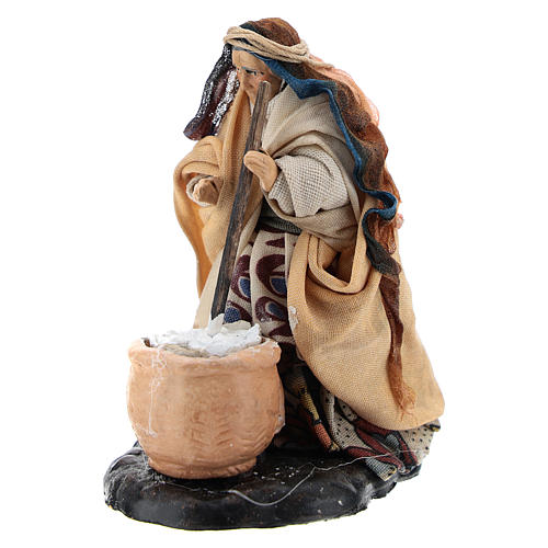 Neapolitan nativity figurine, female cheese maker 8cm 2