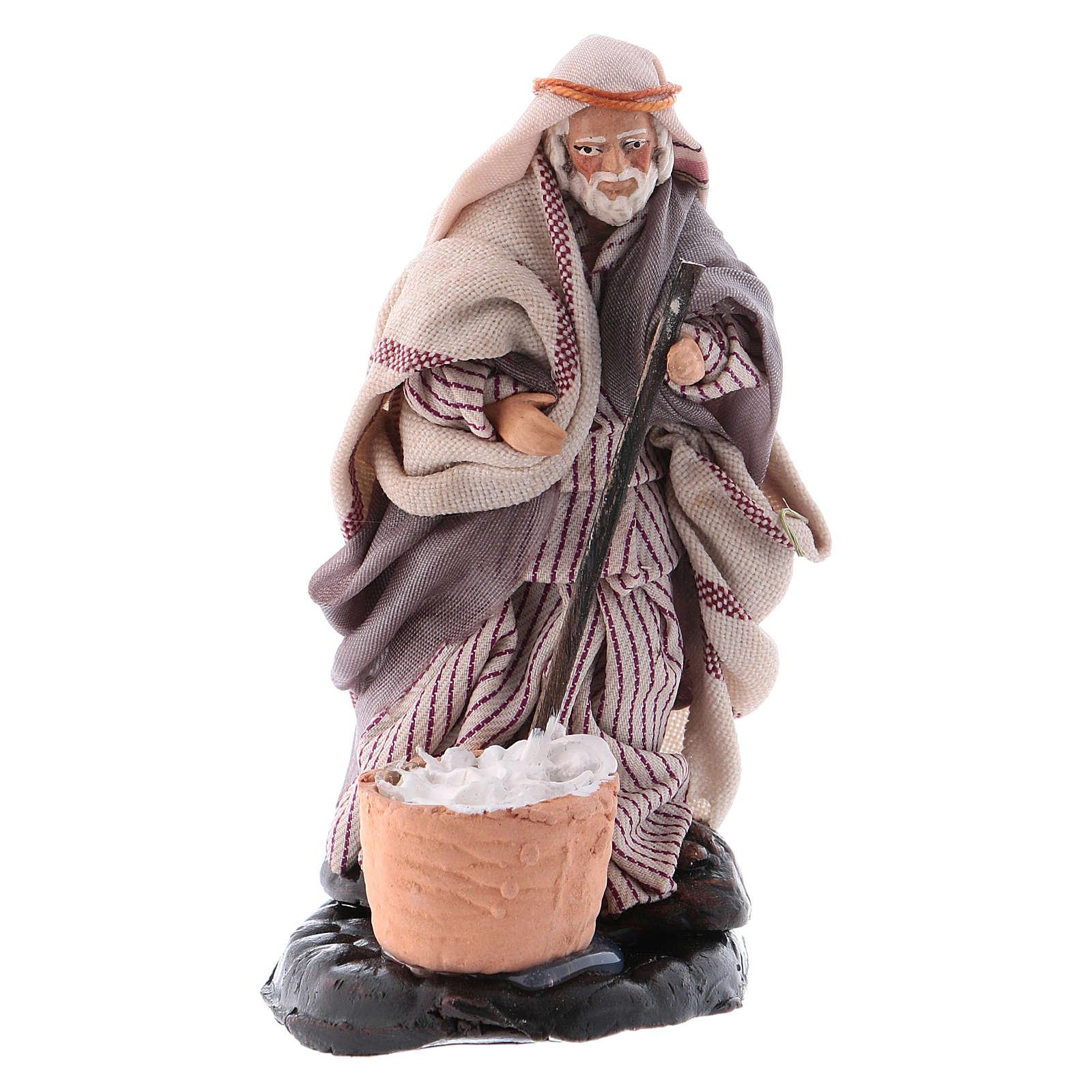Neapolitan nativity figurine, cheese maker 8cm 4