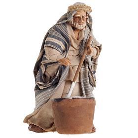 Neapolitan nativity figurine, cheese maker 8cm s1
