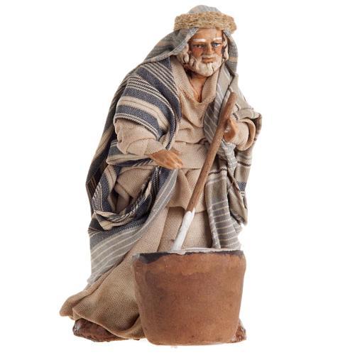 Neapolitan nativity figurine, cheese maker 8cm 1