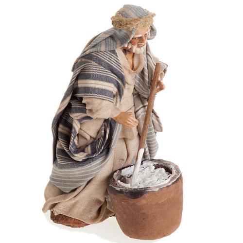 Neapolitan nativity figurine, cheese maker 8cm 2