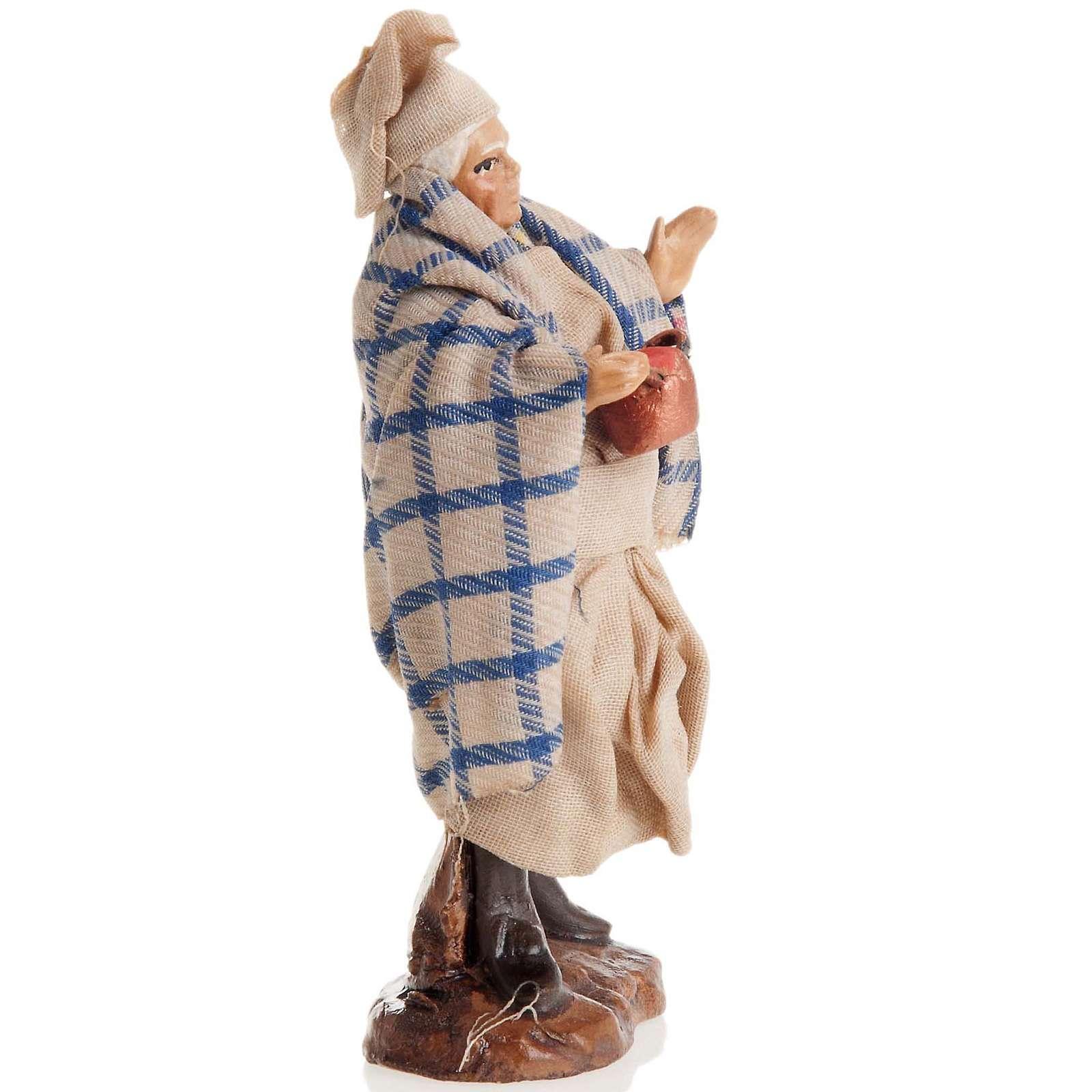 Neapolitan nativity figurine, cook 8cm 4