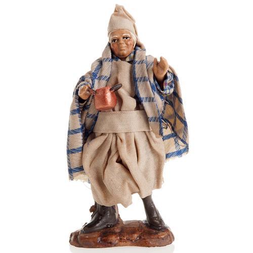 Neapolitan nativity figurine, cook 8cm 1