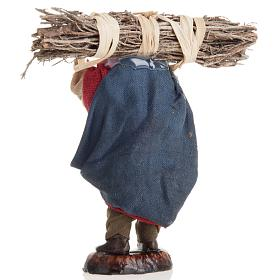 Neapolitan nativity figurine, old woodman 8cm s3