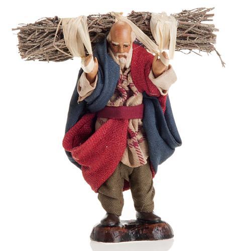 Neapolitan nativity figurine, old woodman 8cm 1