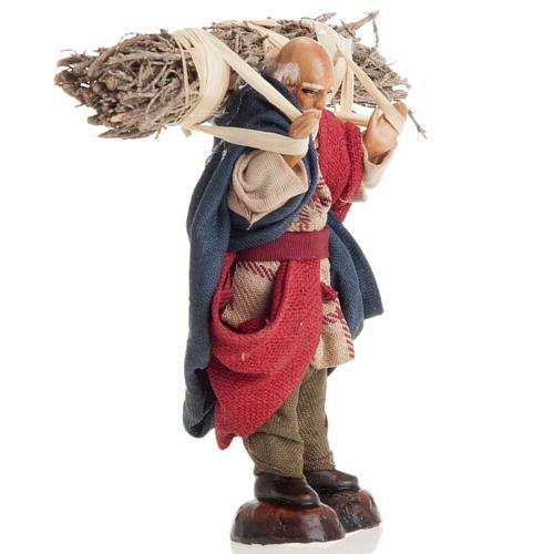 Neapolitan nativity figurine, old woodman 8cm 2