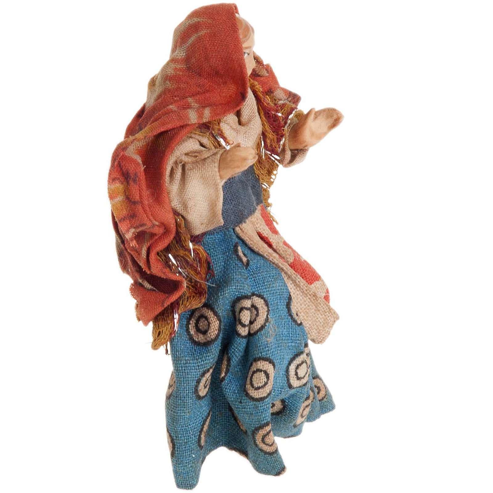 Mujer sentada 8 cm. belén napolitano 4