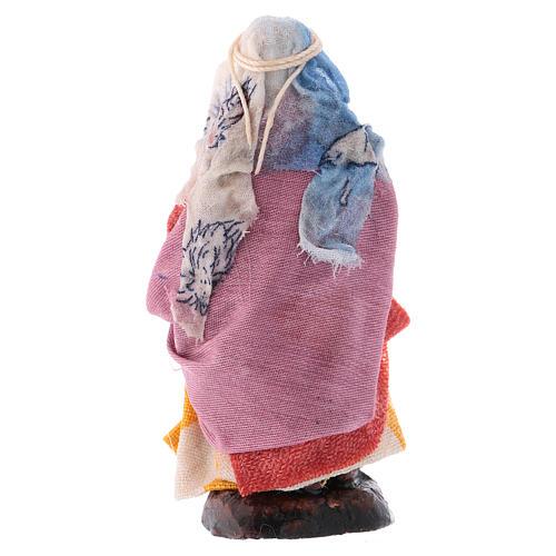 Donna con brocca 8 cm presepe napoletano 2