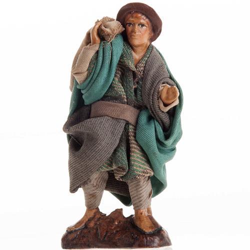 Neapolitan nativity figurine, man with sack 8cm 1