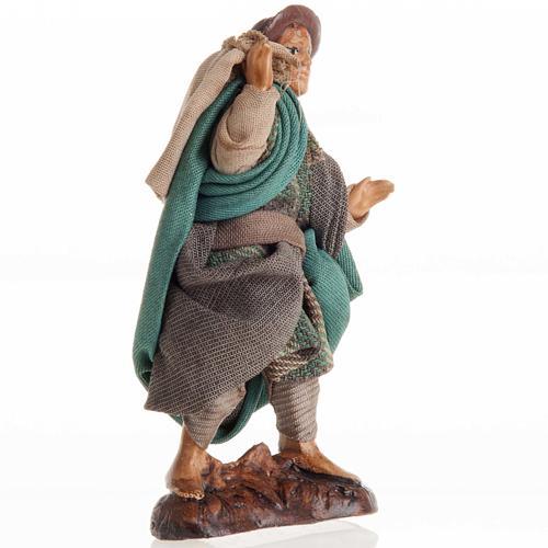Neapolitan nativity figurine, man with sack 8cm 2