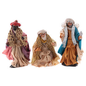 Neapolitan Nativity set, Magi 8cm s1