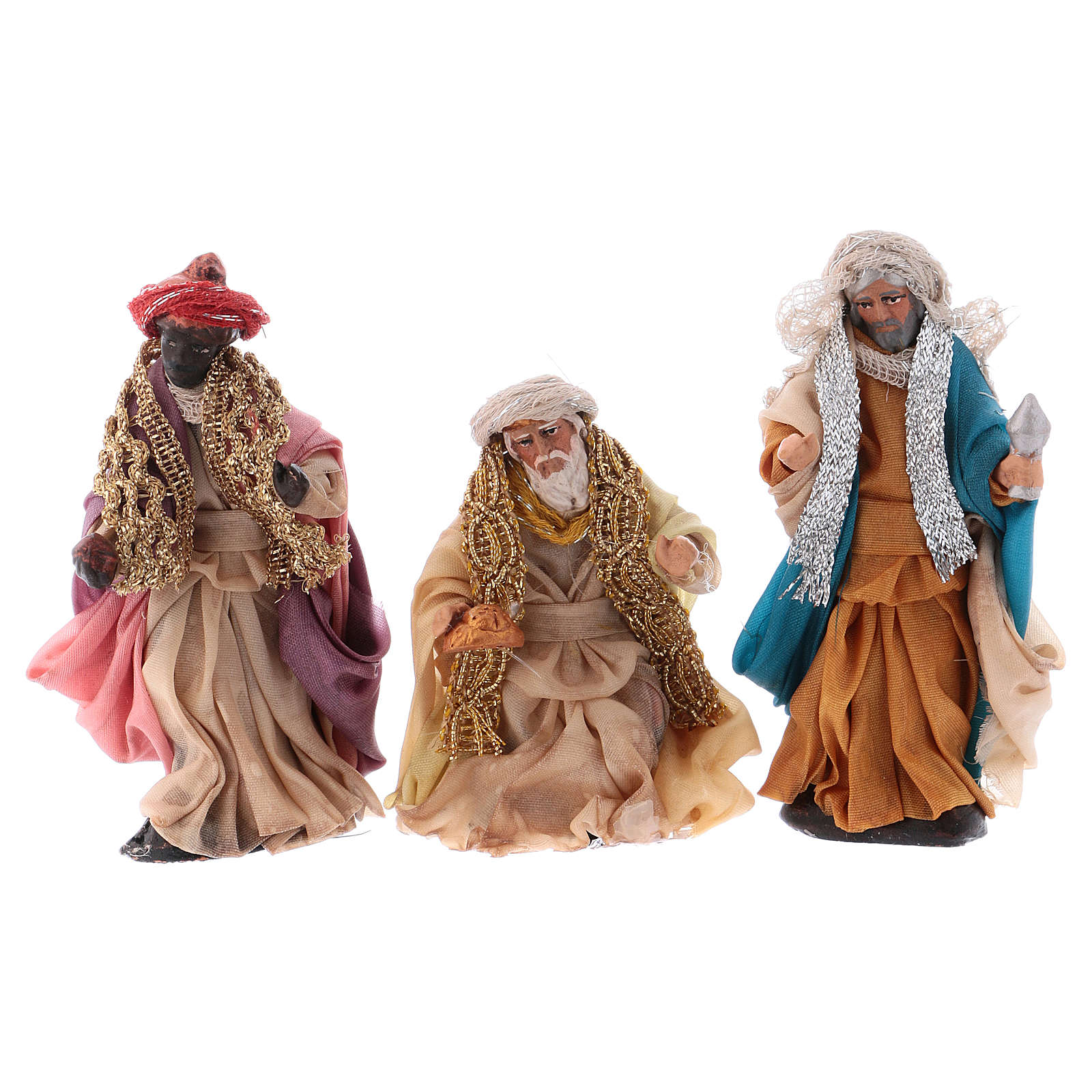 Neapolitan Nativity set, Magi 8cm 4