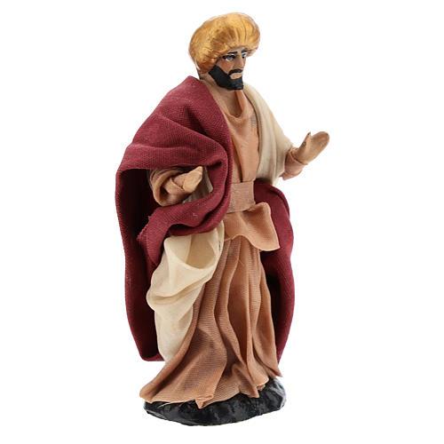 Neapolitan Nativity figurine, Man with turban 8cm 3