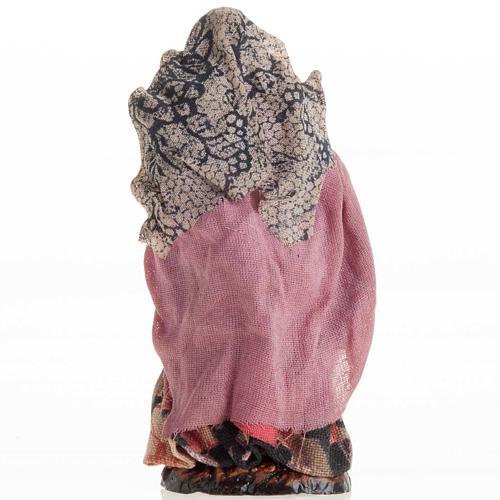 Donna con bimbo 8 cm presepe napoletano 3