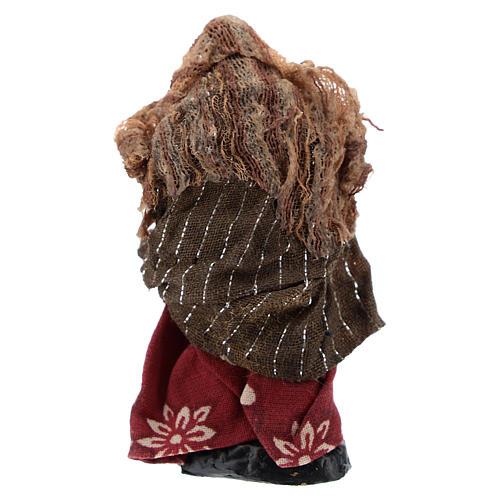 Donna con bimbo 8 cm presepe napoletano 4