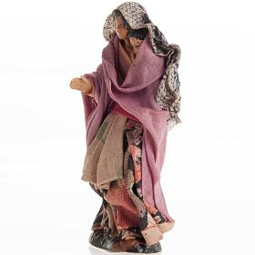 Neapolitan Nativity figurine, Woman with child 8cm s2