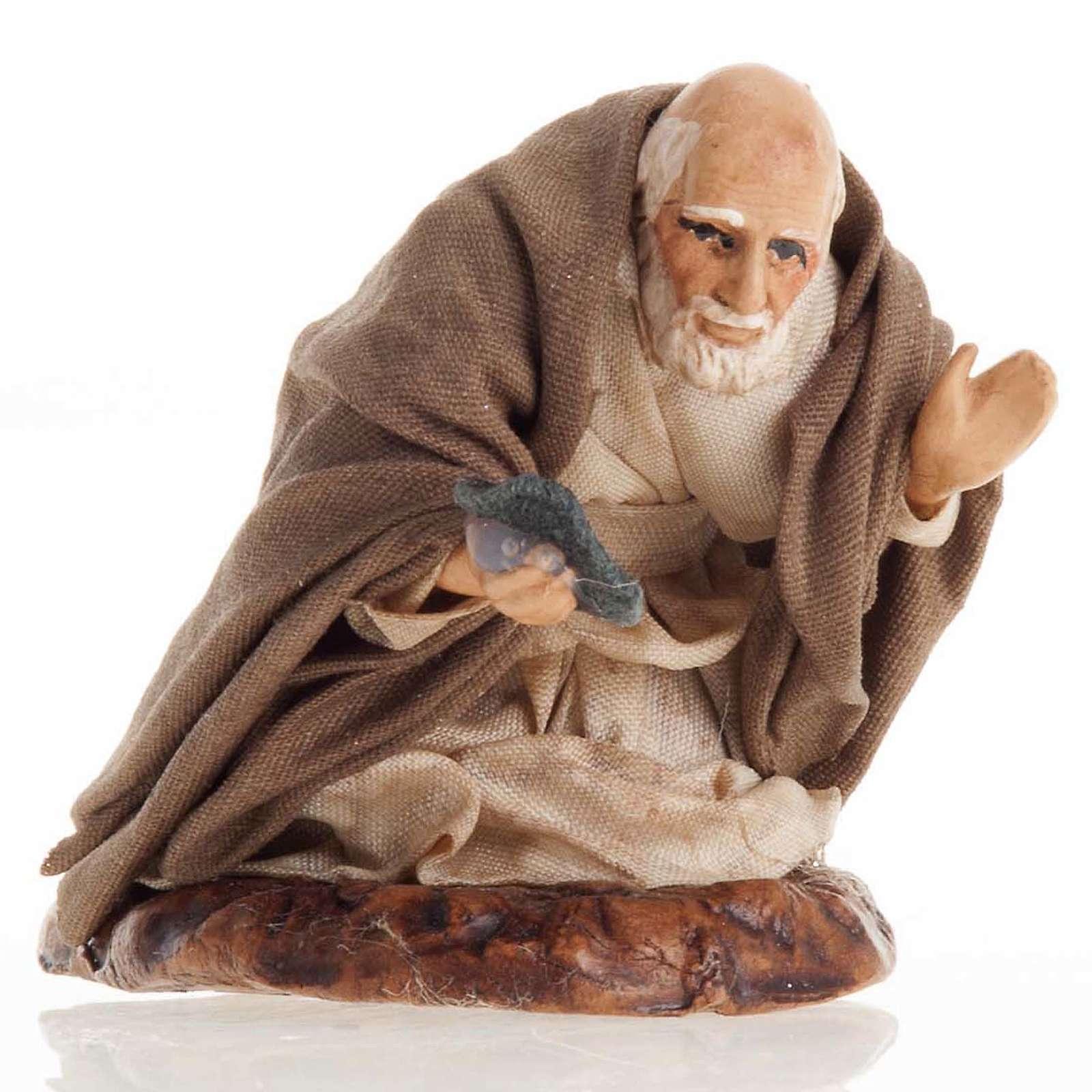 Neapolitan Nativity figurine, Beggar 8cm 4