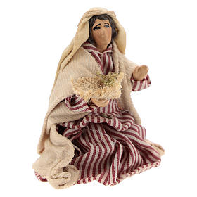 Neapolitan Nativity figurine, Kneeling beggar 8cm s3