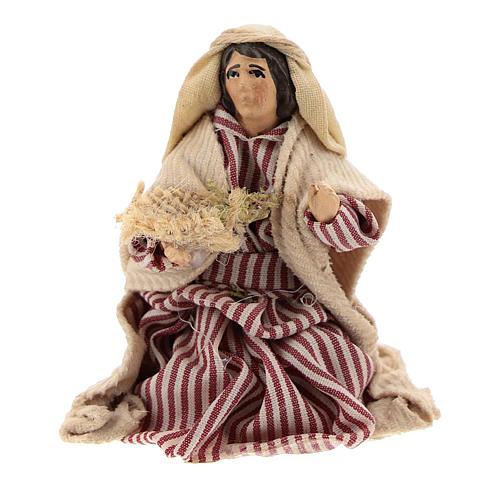 Neapolitan Nativity figurine, Kneeling beggar 8cm 1