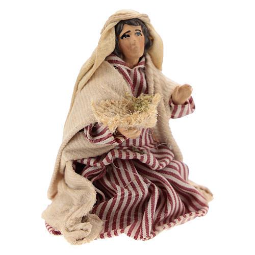 Neapolitan Nativity figurine, Kneeling beggar 8cm 3
