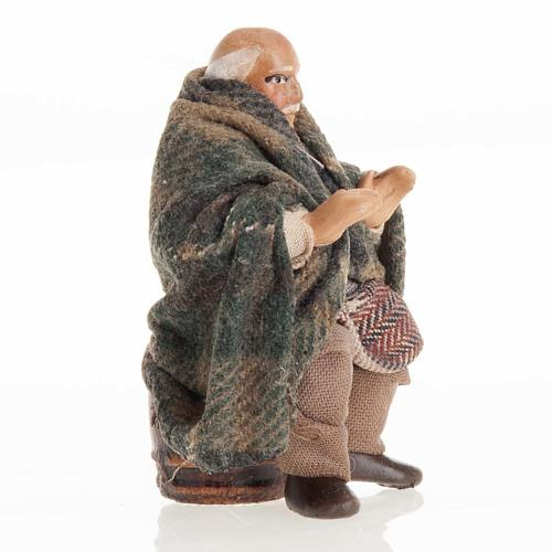 Neapolitan Nativity figurine, Old man 8cm 2
