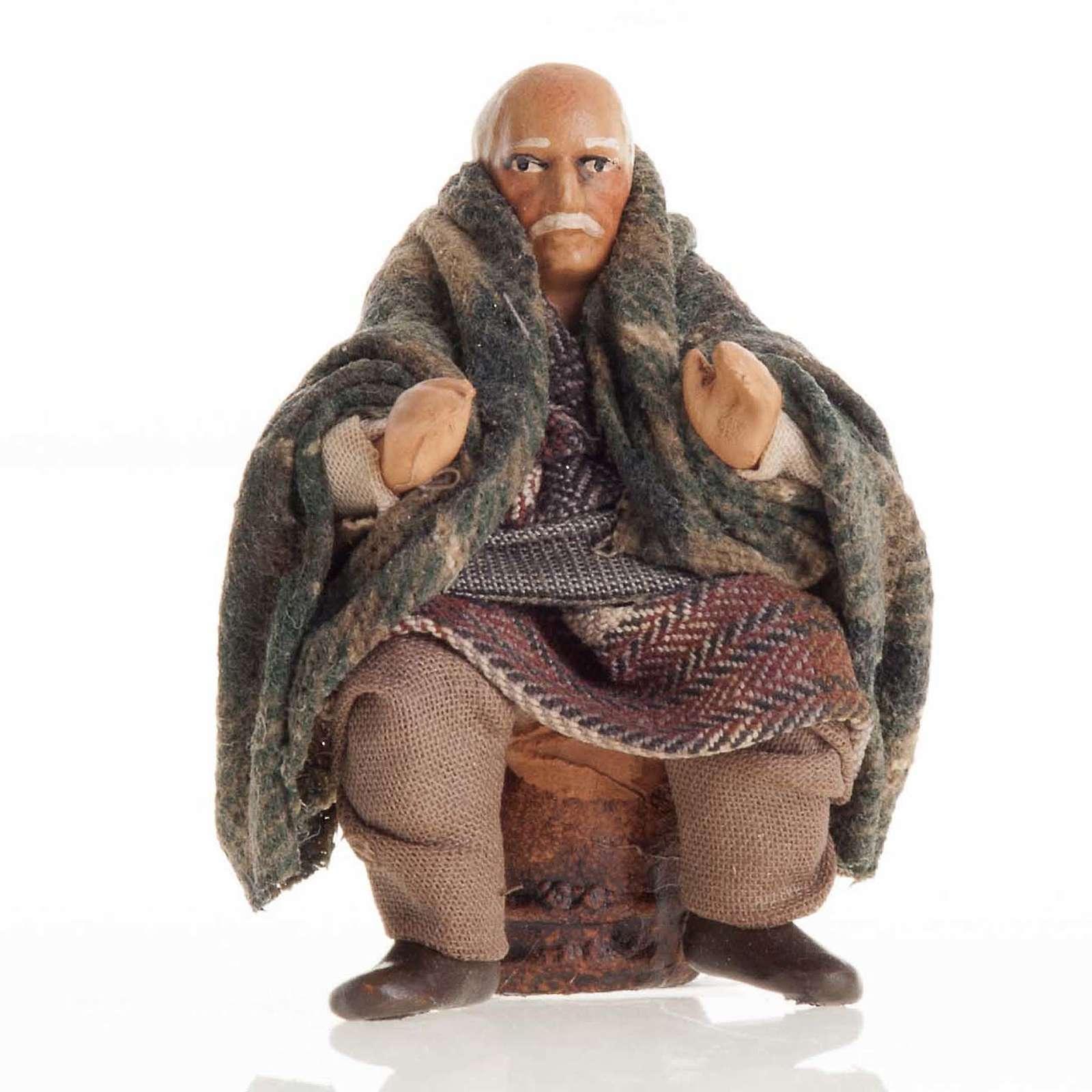 Santon crèche Napolitaine 8 cm homme âgé 4