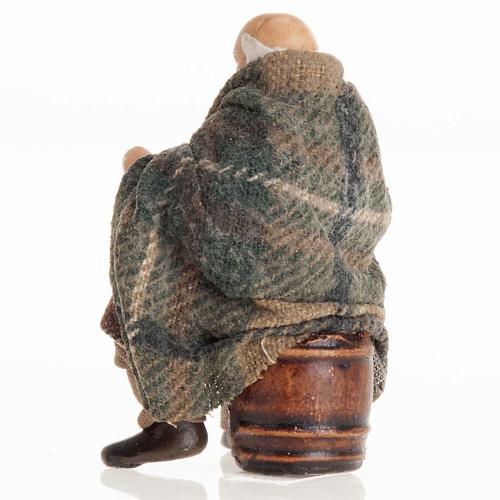 Neapolitan Nativity figurine, Old man 8cm 3