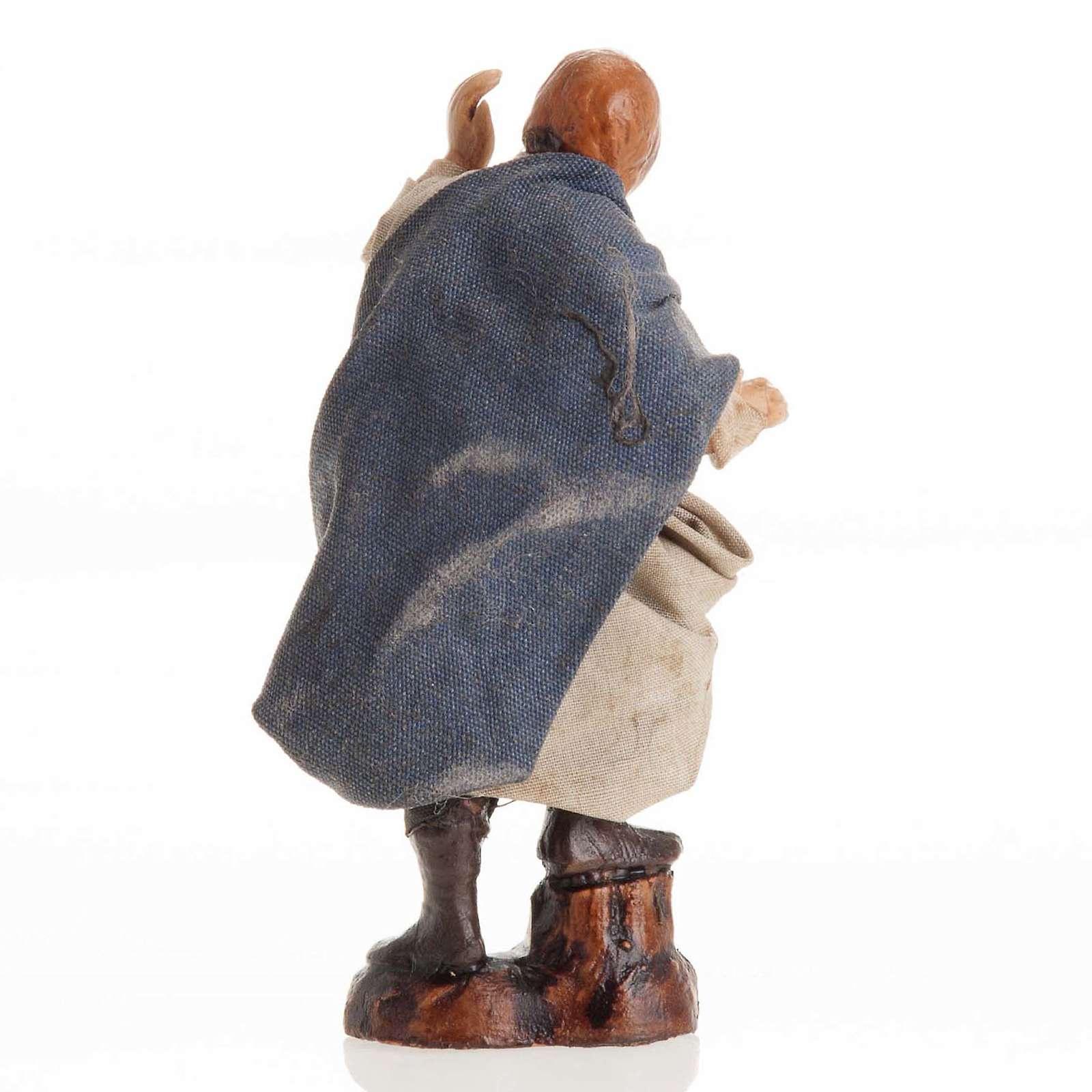 Santon crèche Napolitaine 8 cm homme qui regarde 4