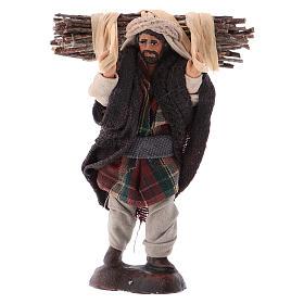 Neapolitan Nativity figurine, Woodman 8cm s1