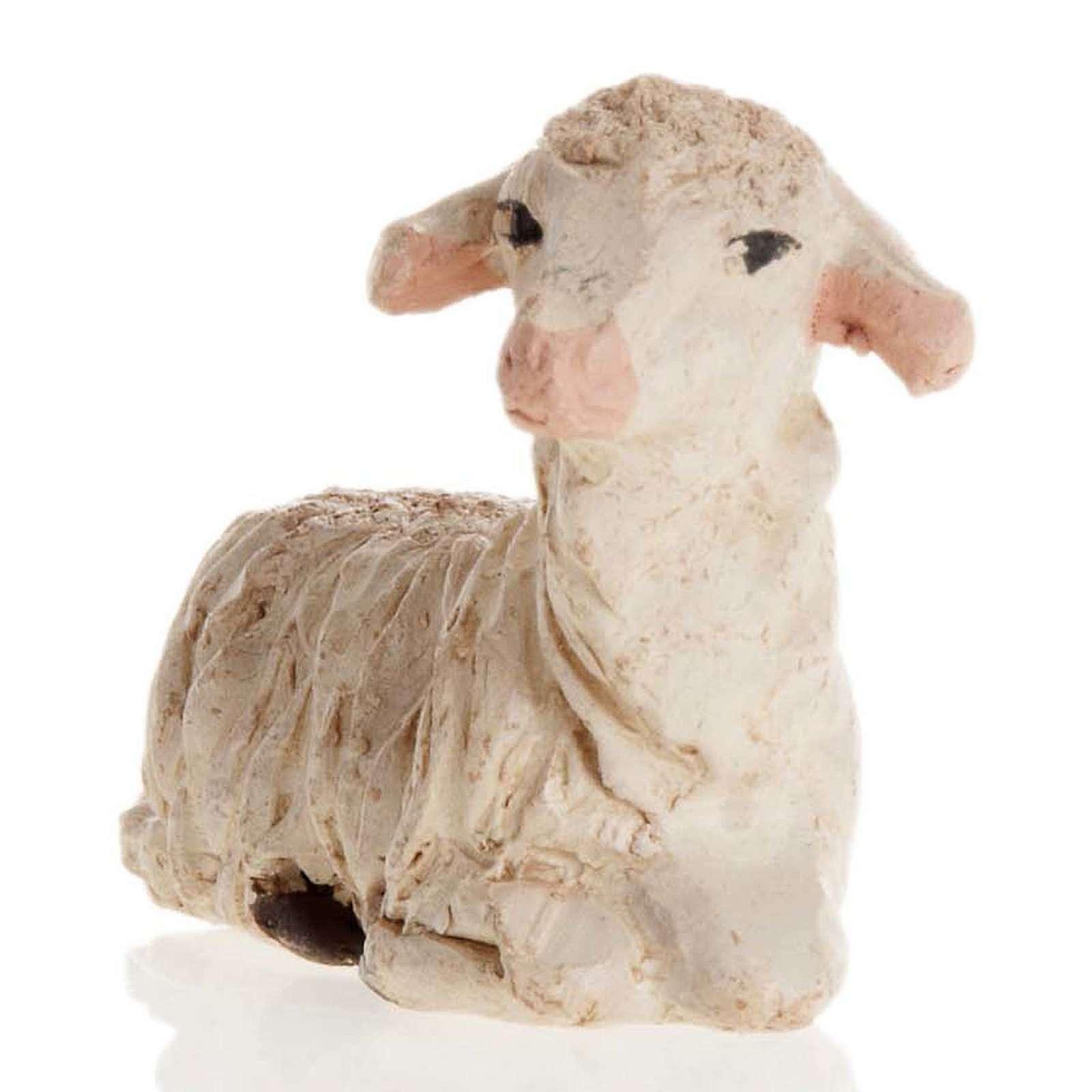 Neapolitan Nativity figurine, Laying sheep 12cm 4