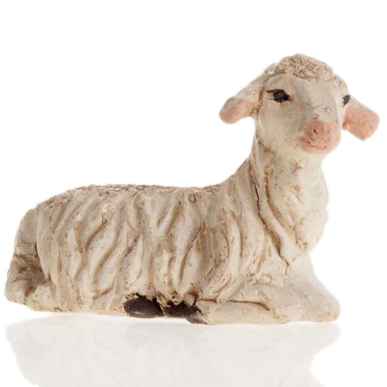 Neapolitan Nativity figurine, Laying sheep 12cm 4