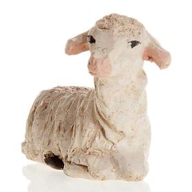 Neapolitan Nativity figurine, Laying sheep 12cm s2