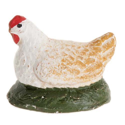 Neapolitan Nativity figurine, Chicken 12cm 2