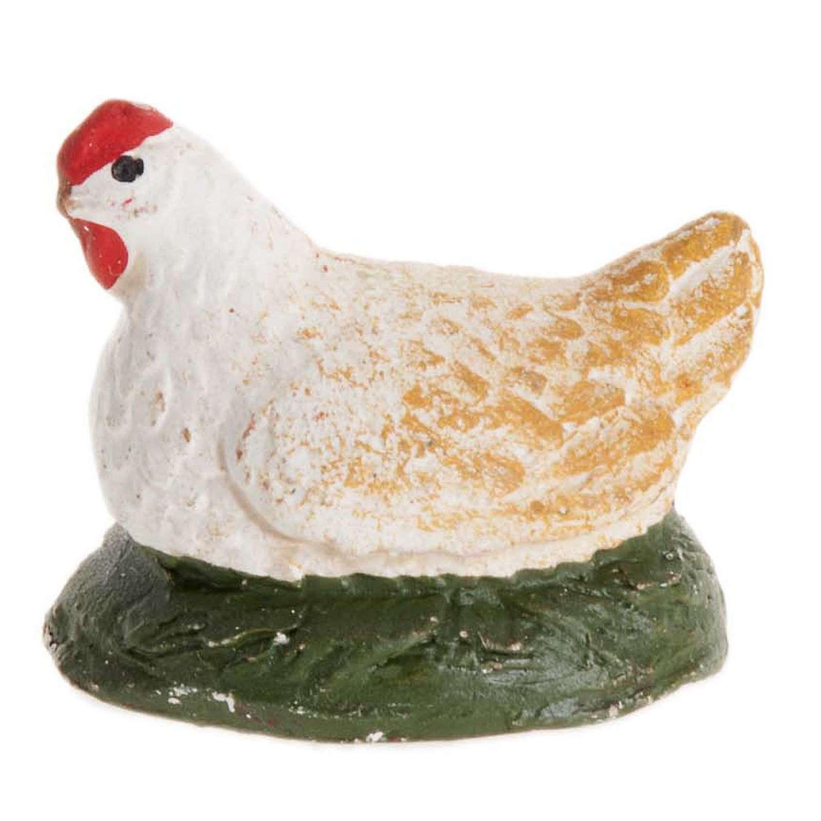 Poule qui couve crèche Napolitaine 12 cm 4
