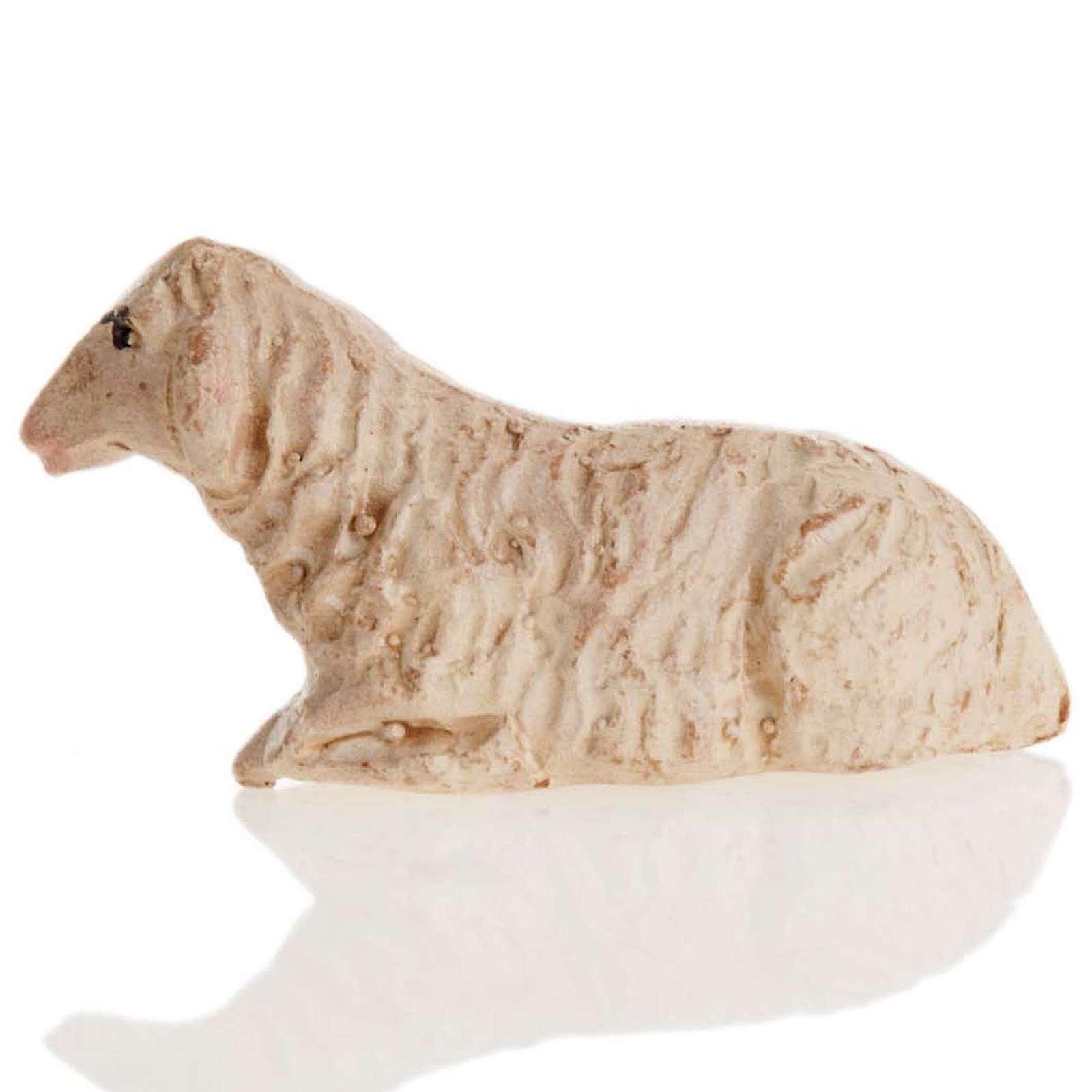 Mouton couché crèche Naples 8 cm 4