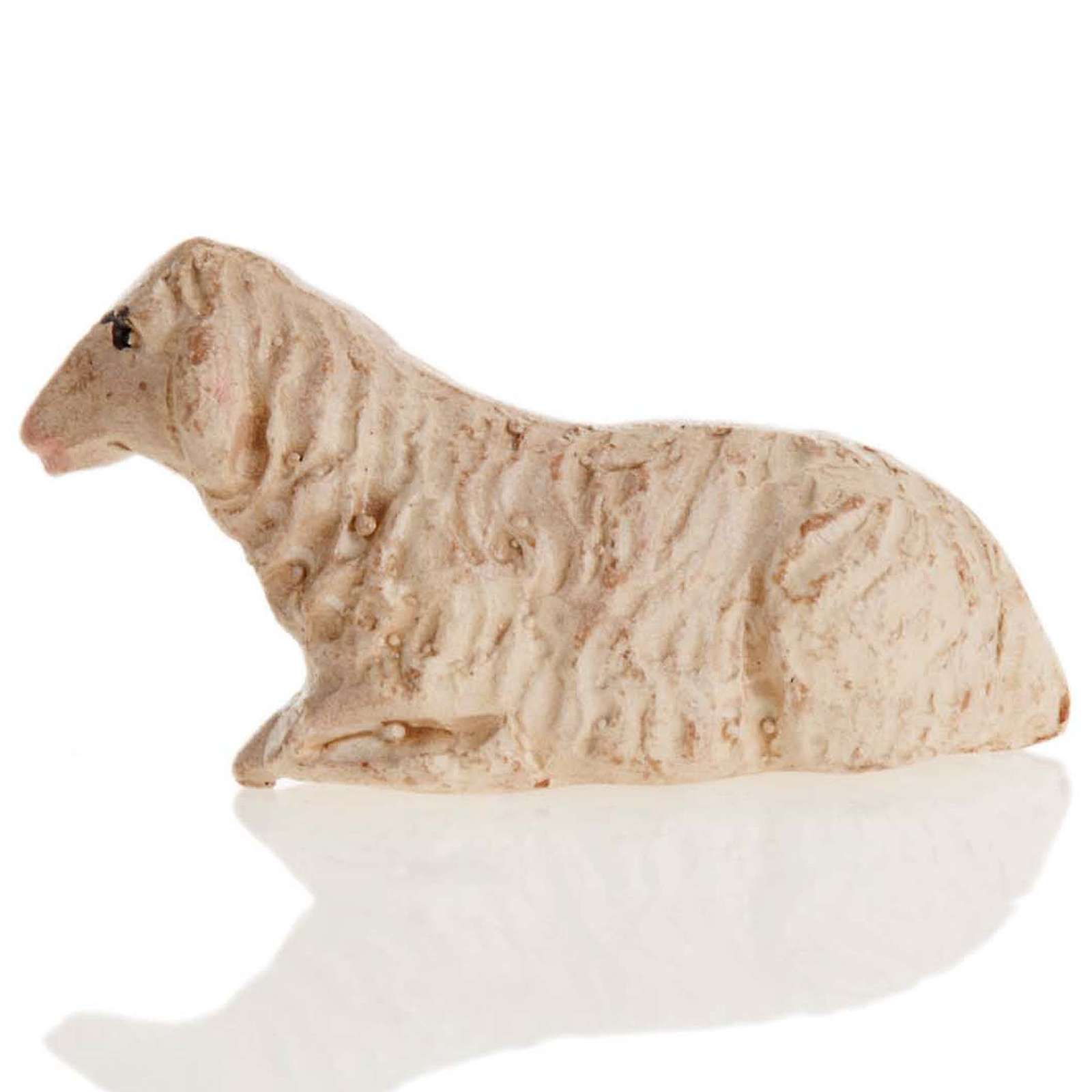 Neapolitan Nativity figurine, Laying sheep 8cm 4