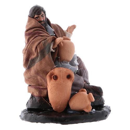 Neapolitan Nativity figurine, Jug repairman 8cm 2