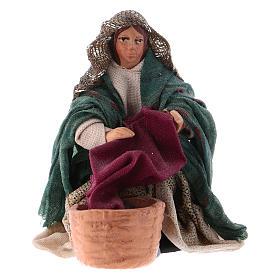 Neapolitan Nativity Scene: Neapolitan Nativity figurine, Washerwoman 8cm