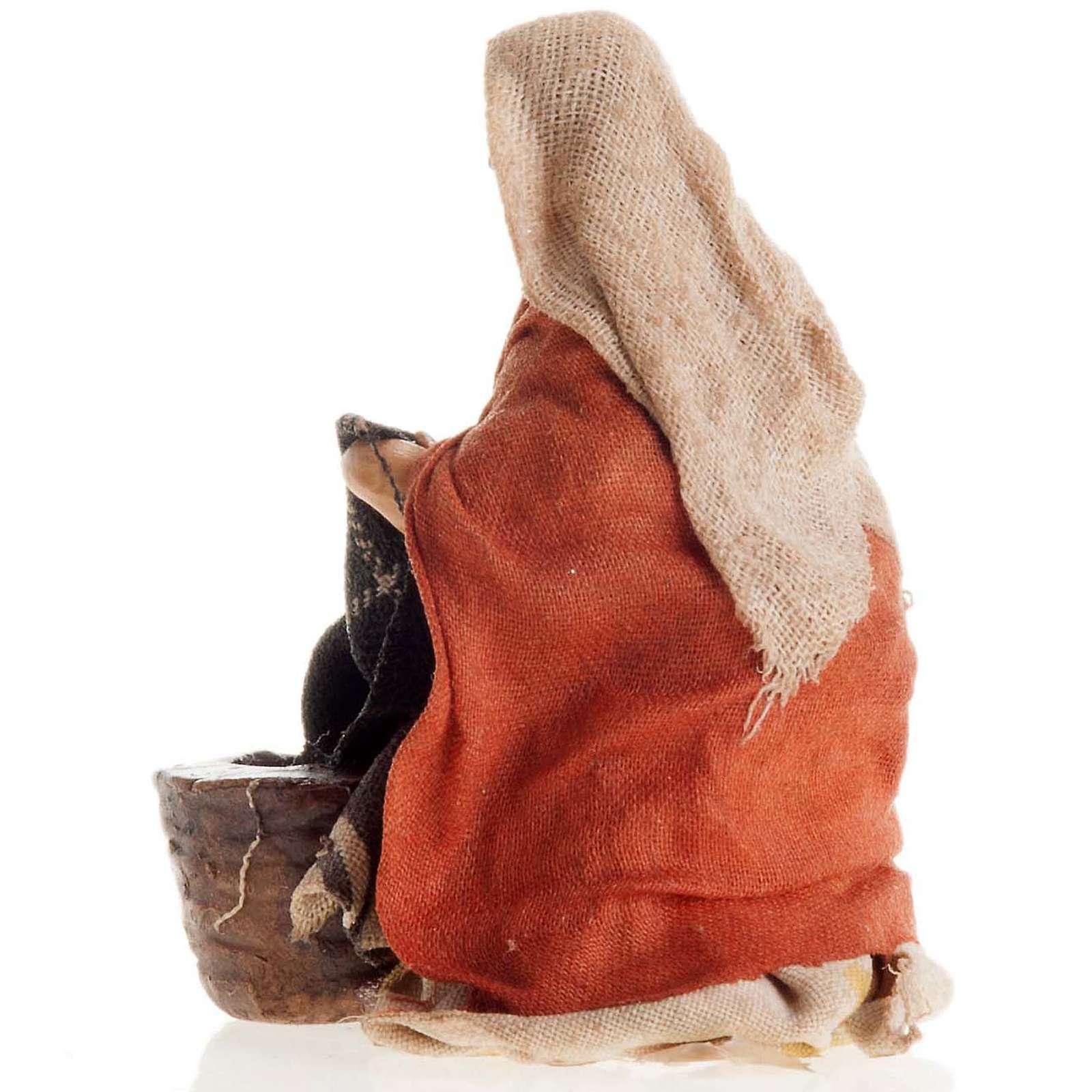 Lavandera de rodillas 8 cm. belén napolitano 4