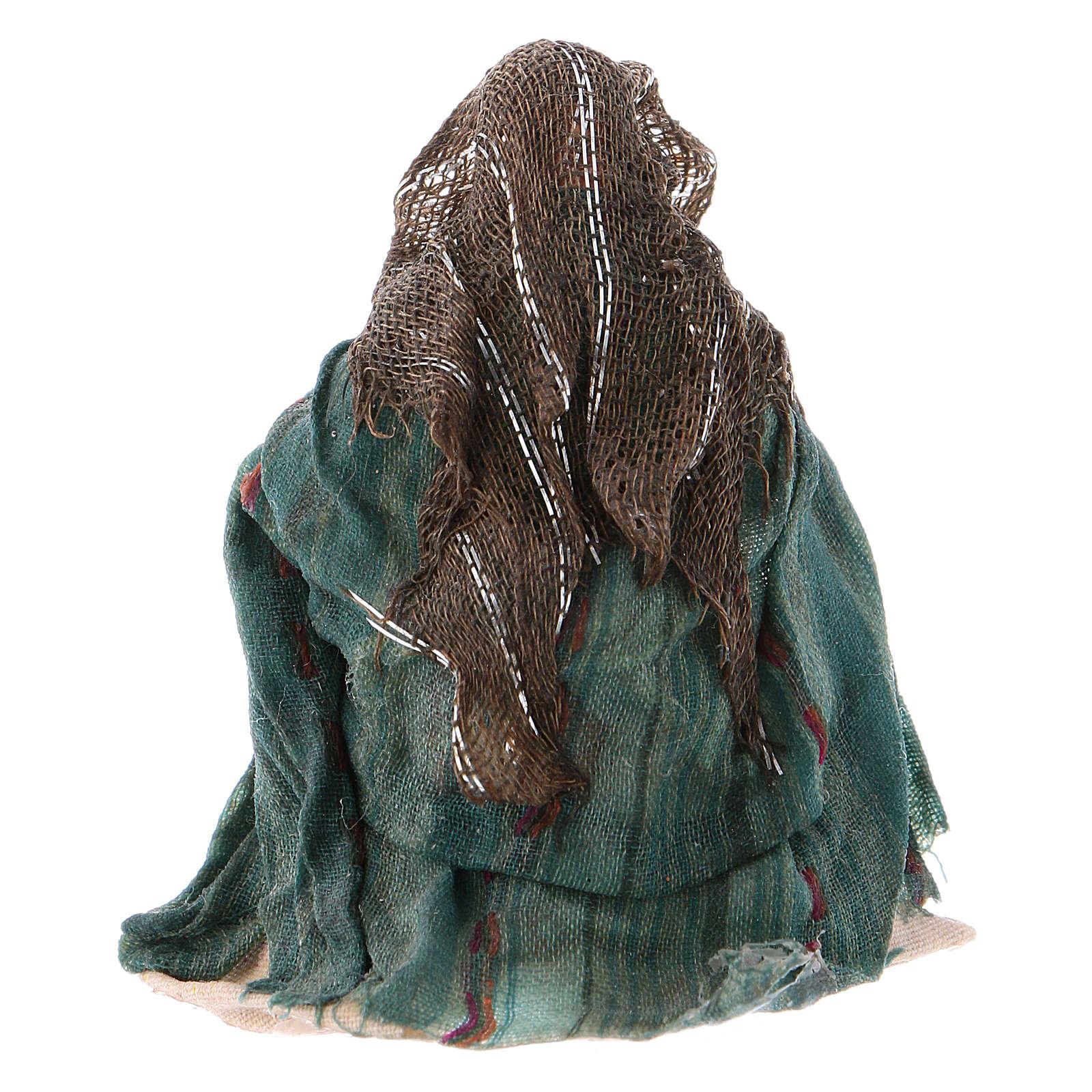 Lavandaia inginocchiata 8 cm presepe napoletano 4
