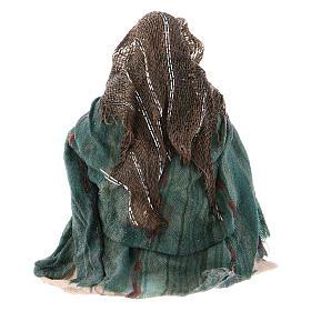 Lavandaia inginocchiata 8 cm presepe napoletano s2