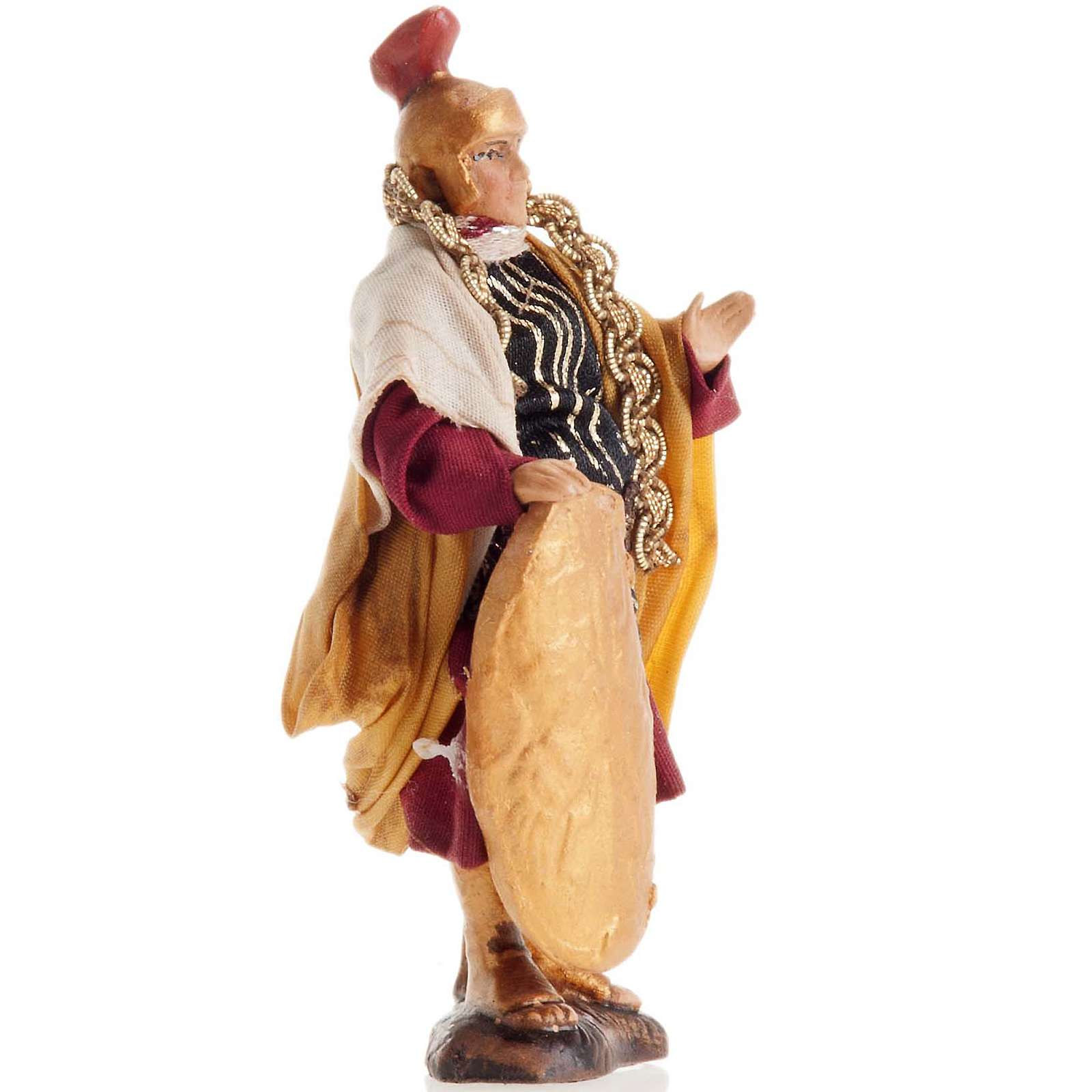 Neapolitan Nativity figurine, Warrior with shield 8cm 4