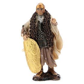 Neapolitan Nativity figurine, Warrior with shield 8cm s1
