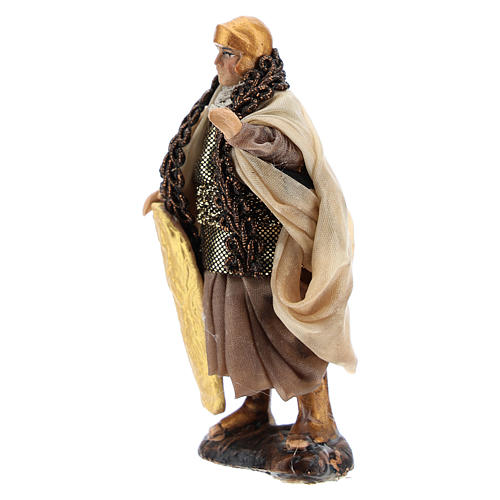 Neapolitan Nativity figurine, Warrior with shield 8cm 2